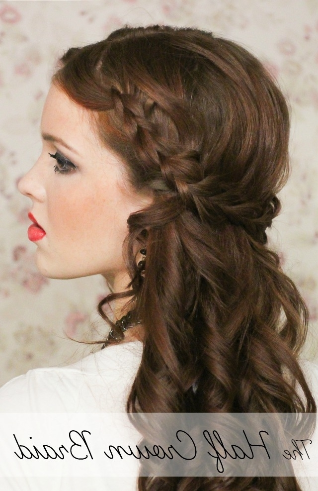 The Freckled Fox: Holiday Hair Week: The Half Crown Braid With Regard To Recent Braided Hairstyles With Crown (View 15 of 15)