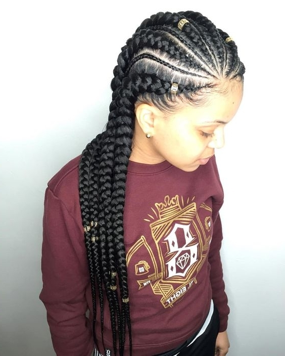 The Latest Trending Cornrow Hairstyles Causing A Big Buzz In Town – For Most Up To Date Big Cornrows Hairstyles (View 14 of 15)