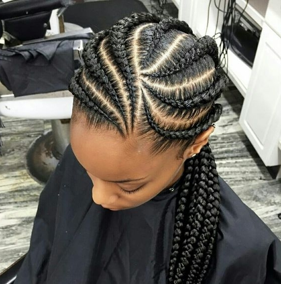 The Latest Trending Cornrow Hairstyles Causing A Big Buzz In Town – Pertaining To Most Up To Date Cornrows Hairstyles For Adults (View 13 of 15)