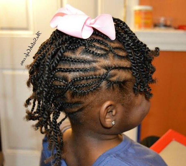 The Pros & Cons Of Cornrow Styles For Children #naturalhair – The Pertaining To Best And Newest Cornrows Hairstyles For Black Hair (View 12 of 15)