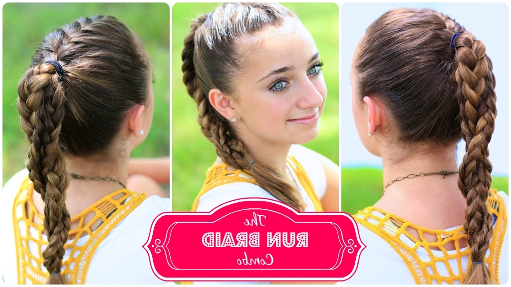 The Run Braid Combo | Hairstyles For Sports | Cute Girls Hairstyles Intended For Most Recent Braided Running Hairstyles (View 5 of 15)