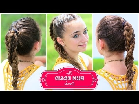 The Run Braid Combo | Hairstyles For Sports – Youtube Intended For Most Popular Braided Hairstyles For Runners (View 4 of 15)