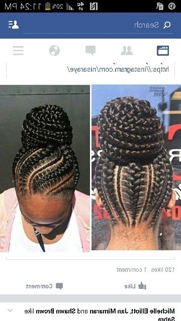 These 3 Cute Flat Twist Hairstyles Take Winning Prize – For Being In Current Big Updo Cornrows Hairstyles (View 5 of 15)