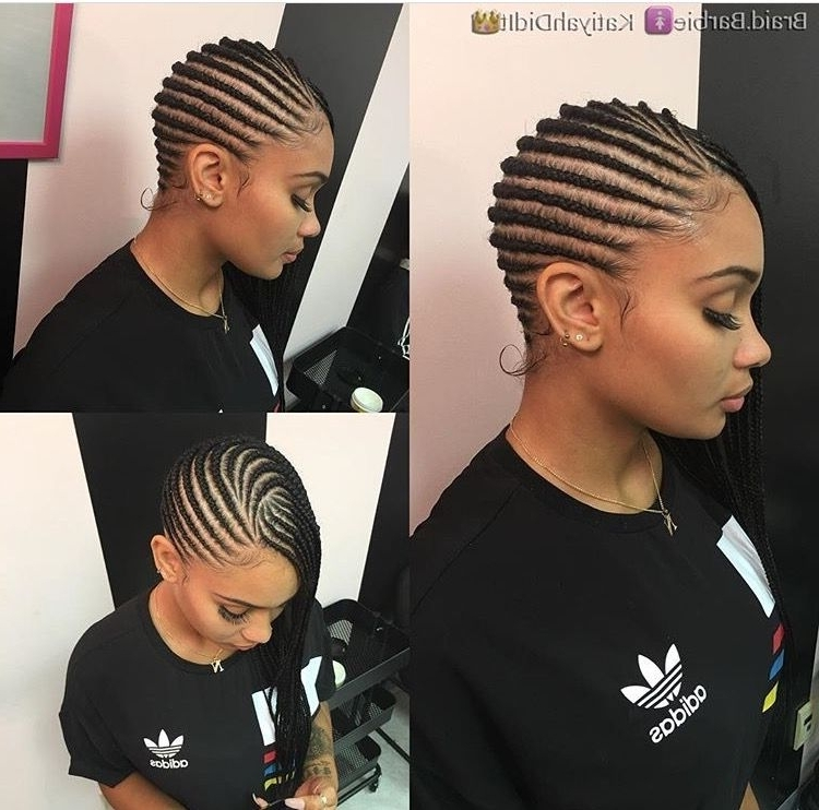 These 3 Cute Flat Twist Hairstyles Take Winning Prize – For Being With Regard To Most Popular African American Side Cornrows Hairstyles (View 15 of 15)