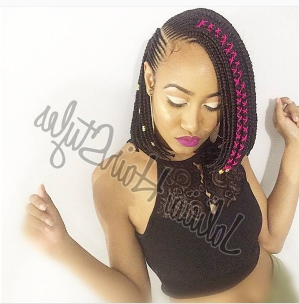 This Cute Cornrow Bob Hairstyle Will Have You Running To Your Inside 2018 Cornrows Bob Hairstyles (View 15 of 15)