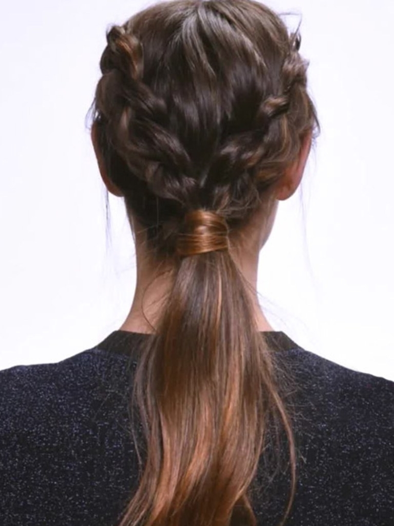 This Dutch Braid Ponytail Is Way Easier Than It Looks | Allure Within Most Recently Two Quick Braids And Ponytail (View 9 of 15)