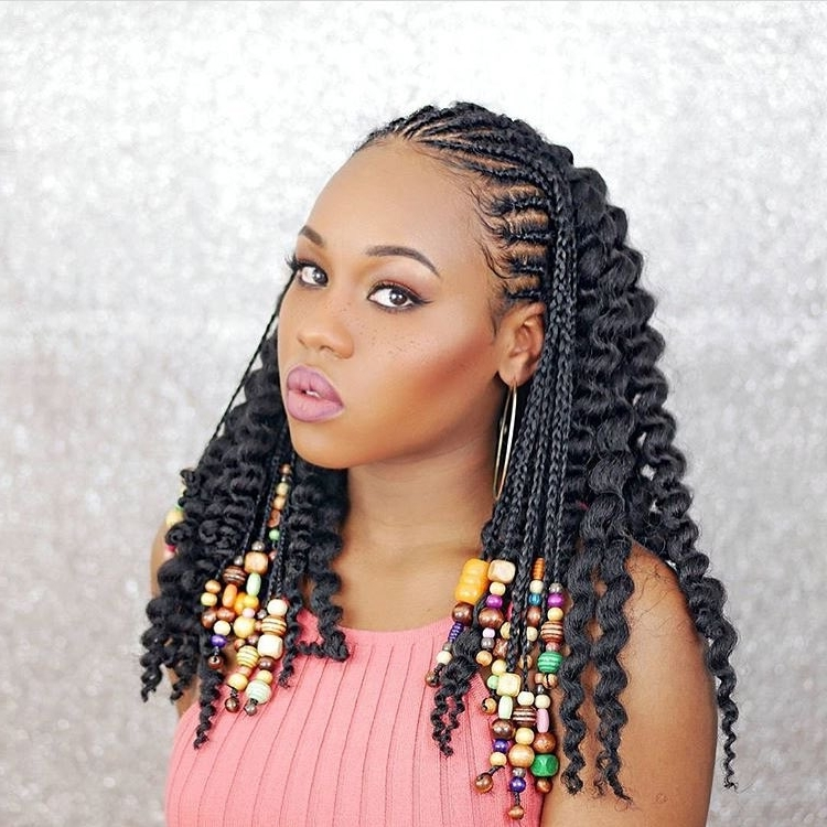 This Embellished Fulani Inspired Braided Hairstyle Is Taking Over In Most Recently Braid Rave Hairstyles (View 14 of 15)