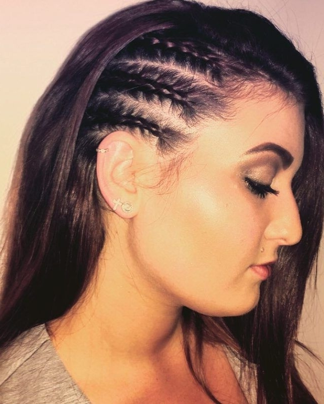 Three Half Braided Side Twists | Beauty | Pinterest | Half Braid For 2018 Cornrows Hairstyles On Side (View 14 of 15)