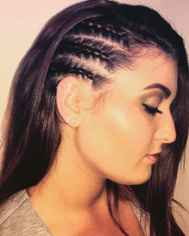 Three Half Braided Side Twists | Beauty | Pinterest | Half Braid In Most Recent Half Cornrow Hairstyles (View 10 of 15)