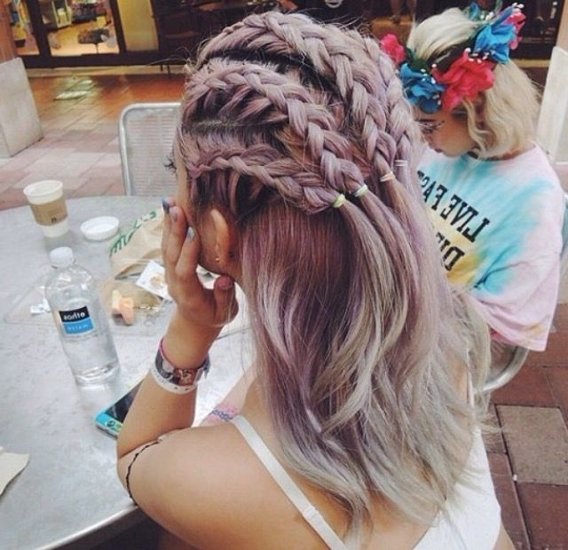 Tight Braids | Vfest | Pinterest | Tight Braids, Rave And Hair Style Pertaining To 2018 Braid Rave Hairstyles (View 3 of 15)