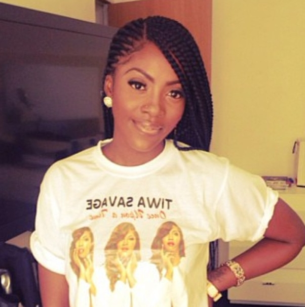 Tiwa Savage Cornrows | Tiwa Savage Sports Beautiful Cornrows And Regarding Most Recent Cornrows Hairstyles That Cover Forehead (View 14 of 15)