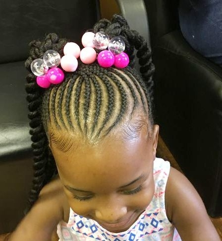 Toddler Braided Hairstyles With Beads | Hairstyles & Haircuts For Intended For Recent Toddlers Braided Hairstyles (View 8 of 15)