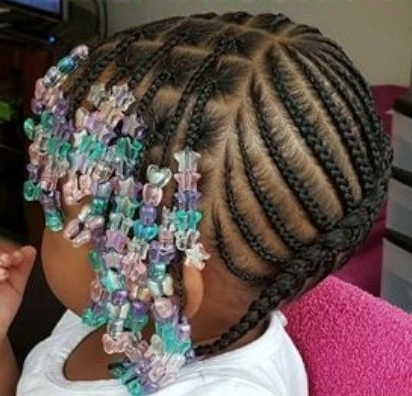 Toddler Braided Hairstyles With Beads | Hairstyles & Haircuts For Regarding Latest Toddlers Braided Hairstyles (View 11 of 15)