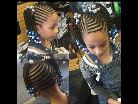 Toddler Braided Hairstyles With Beads : Watch And Make A Choice Regarding Recent Toddlers Braided Hairstyles (View 7 of 15)