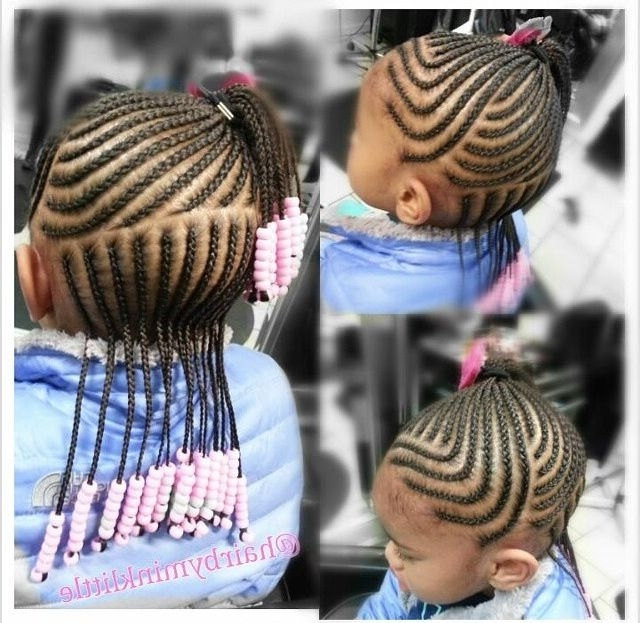 Toddler/ Braids / Hair / Protective Hairstyles / Girls Hair Pertaining To Best And Newest Braid Hairstyles For Little Girl (View 4 of 15)