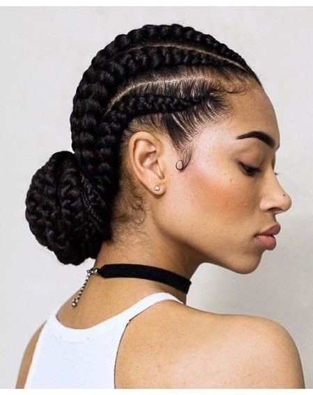Top 20 Easy Hairstyles For Natural Hair With Regard To Most Current Easy Cornrows Hairstyles (View 9 of 15)