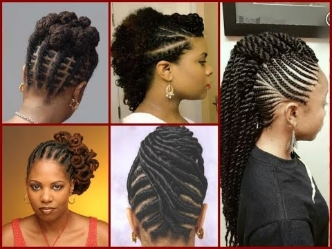 Top – 20 Flat Twist Hairstyles On Natural Hair – Youtube Intended For 2018 Cornrows Hairstyles For Natural African Hair (View 9 of 15)