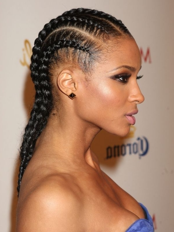 Top 25 Quick Weave Hairstyles | Hair Ideas | Pinterest | Curly Hair Pertaining To Most Current Cornrows Hairstyles That Cover Forehead (View 15 of 15)