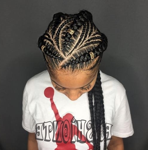 Top Asymmetrical Goddess Braids , Totally Look Fabulous   Fashionte Intended For Most Current Asymmetrical Goddess Braids Hairstyles (View 12 of 15)