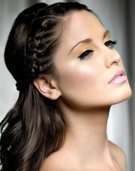 Top Crown Braided Hairstyles For Prom | Pinterest | Crown Braids For Most Current Top Braided Hairstyles (View 8 of 15)
