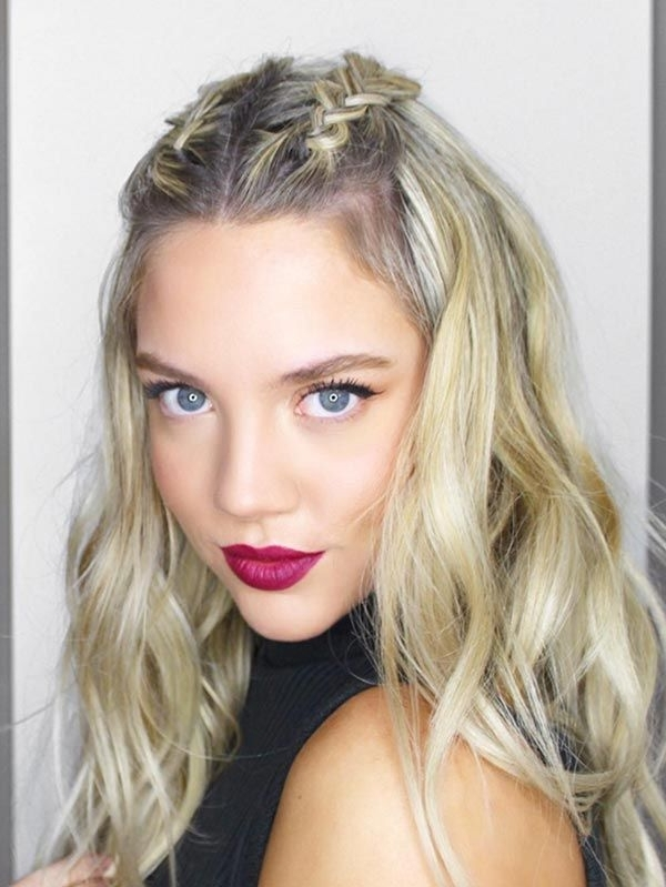 Featured Photo of Middle Part Braided Hairstyles