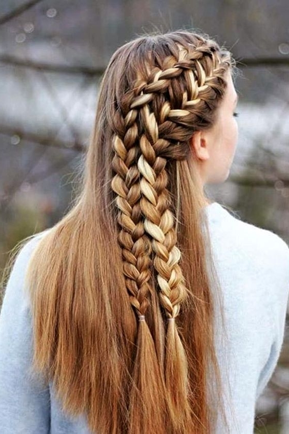 Trendy Braided And Cornrows Hairstyles For Girls – Hairzstyle In Newest Braided Hairstyles For Girls (View 6 of 15)