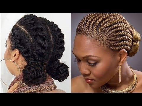 Trendy Cornrow Braids Hairstyles 2017 – Best 20 Braiding Hair Ideas With Most Recent Cornrow Updo Braid Hairstyles (View 6 of 15)