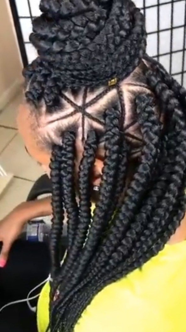 Triangle Box Braids Are A Trend You Need To Try | Hair | Pinterest Intended For Most Up To Date Triangle Box Braids Hairstyles (View 4 of 15)