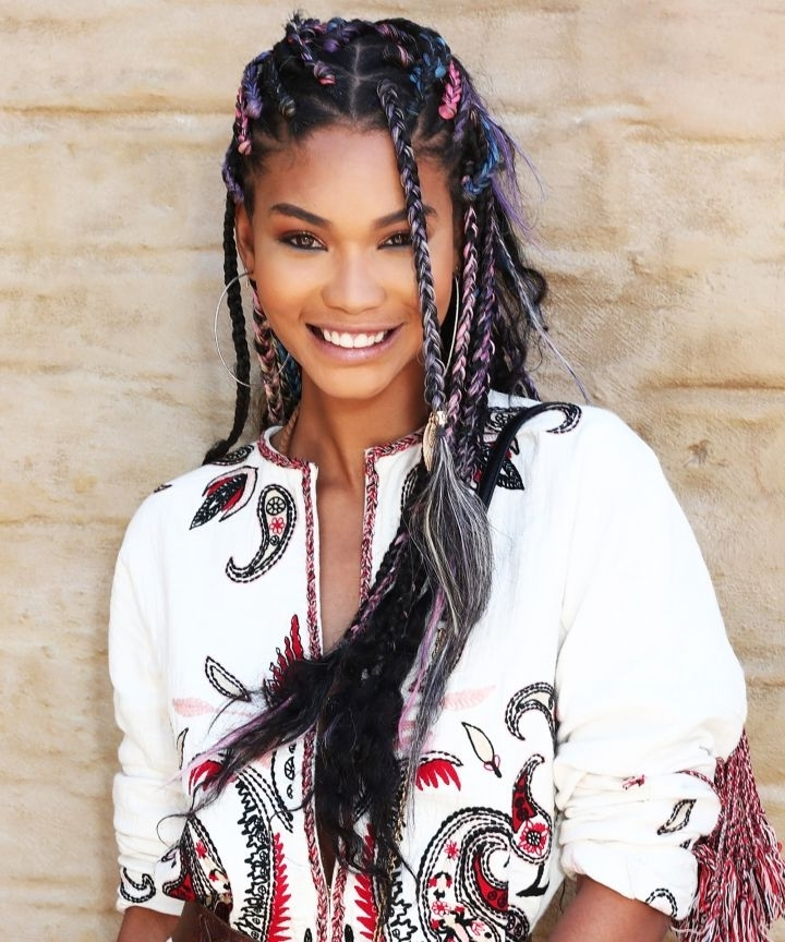 Triangle Braids Box Braids Hair Trend Teyana Taylor Within Most Recently Triangle Box Braids Hairstyles (View 12 of 15)