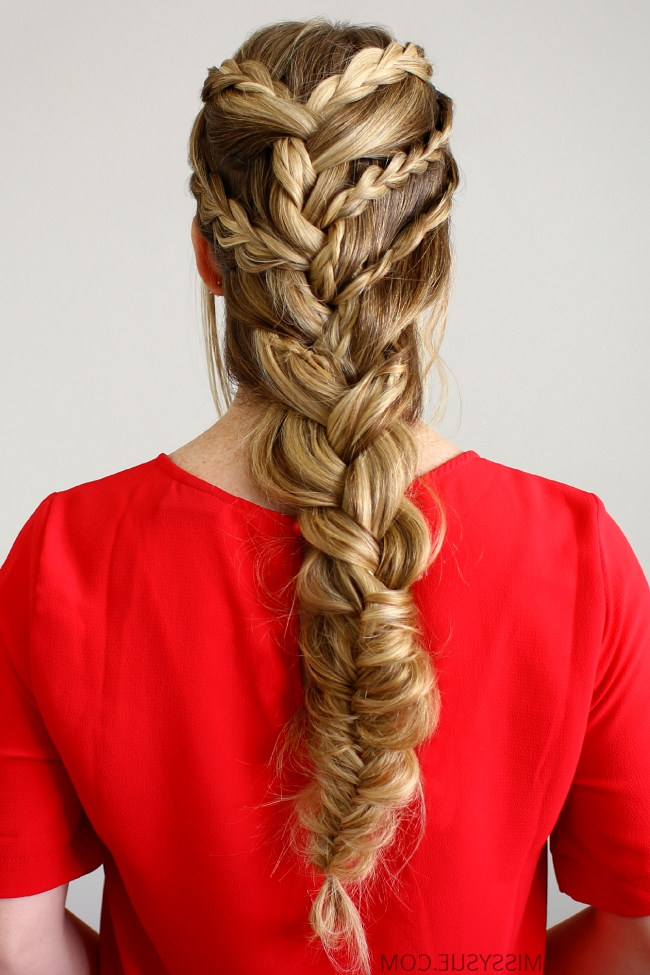 Triple Braided French Braid With Most Popular Triple The Braids Hairstyles (View 5 of 15)