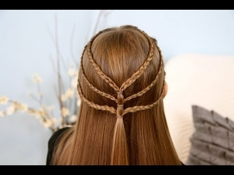 Triple Braided Tieback | Cute Girls Hairstyles – Youtube With Regard To Most Recently Triple Braid Hairstyles (View 2 of 15)