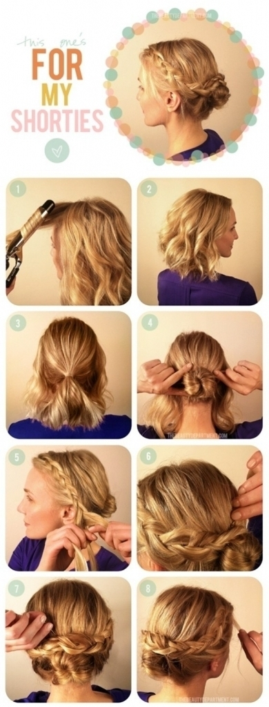Twin French Braid Updo Regarding Most Current Twin Braid Updo Hairstyles (View 6 of 15)