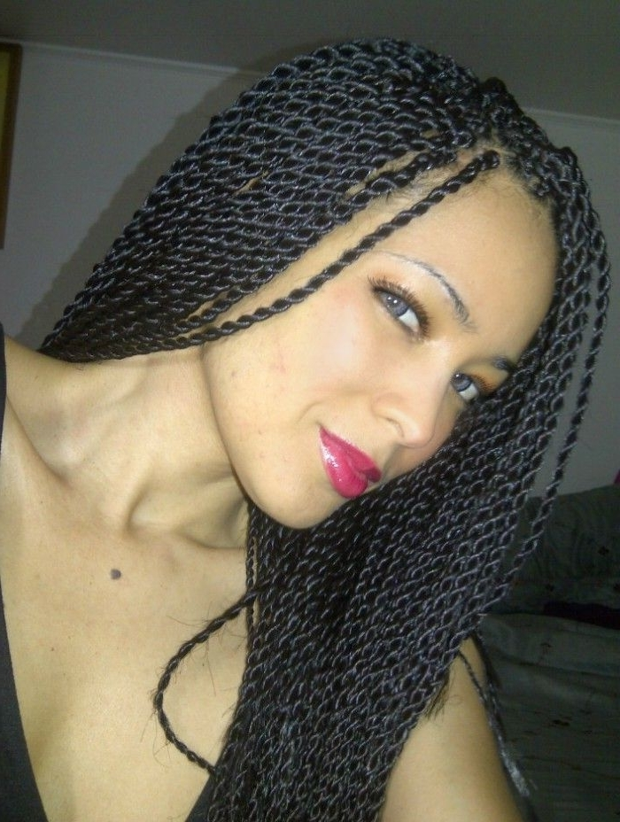 Twist Braid Hairstyles For Black Women | Hair | Pinterest | Twist Throughout Most Up To Date Twist Braided Hairstyles (View 10 of 15)
