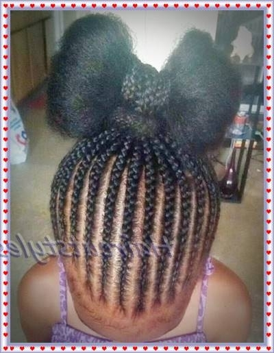 Twist Buns Braided Hairstyles For Little Black Girls – Haircut Intended For Most Popular Braided Hairstyles For Little Black Girls (View 14 of 15)