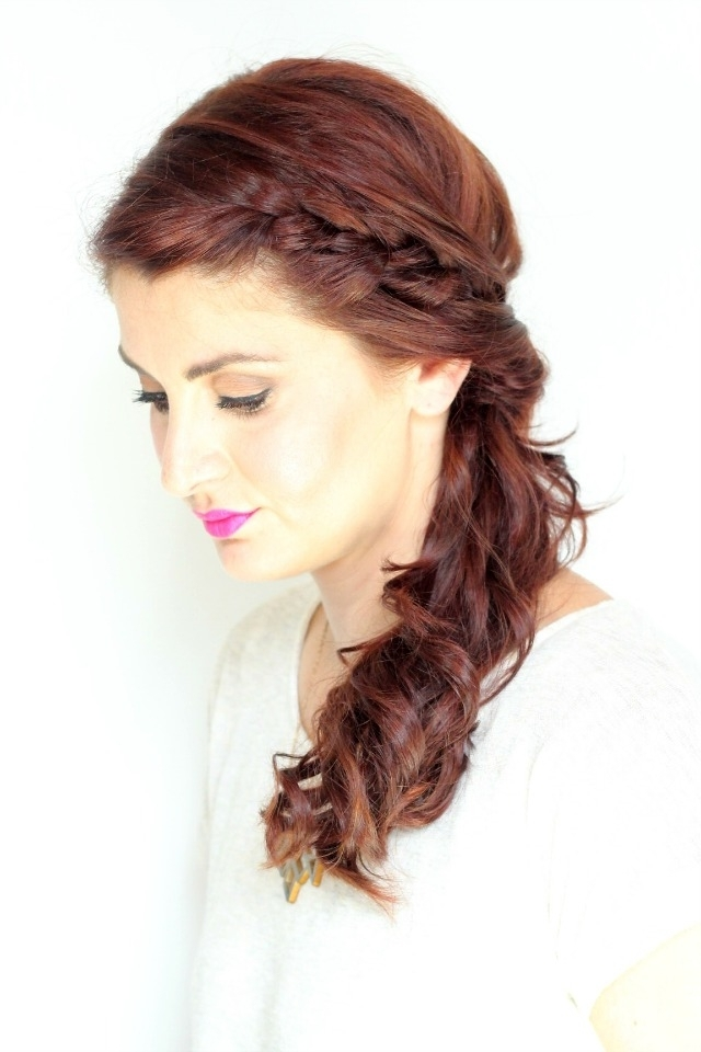 Twisted Side Braid Tutorial – Ma Nouvelle Mode In Most Up To Date Side Ponytail Braids With A Twist (View 9 of 15)