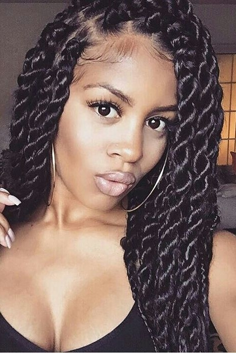 Featured Photo of Twist Braided Hairstyles