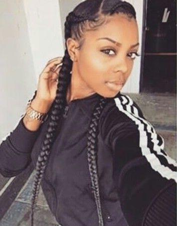 Two Braids Going Back? | Beautiful Braids & Twists | Pinterest With Regard To Current Cornrows Hairstyles Going Back (View 15 of 15)