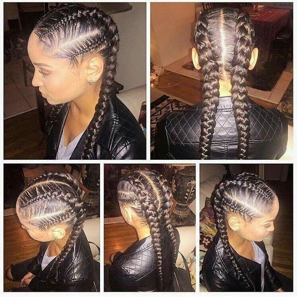 Two Braids Hairstyles | African American Hairstyling With Best And Newest Two Cornrows Hairstyles (View 9 of 15)