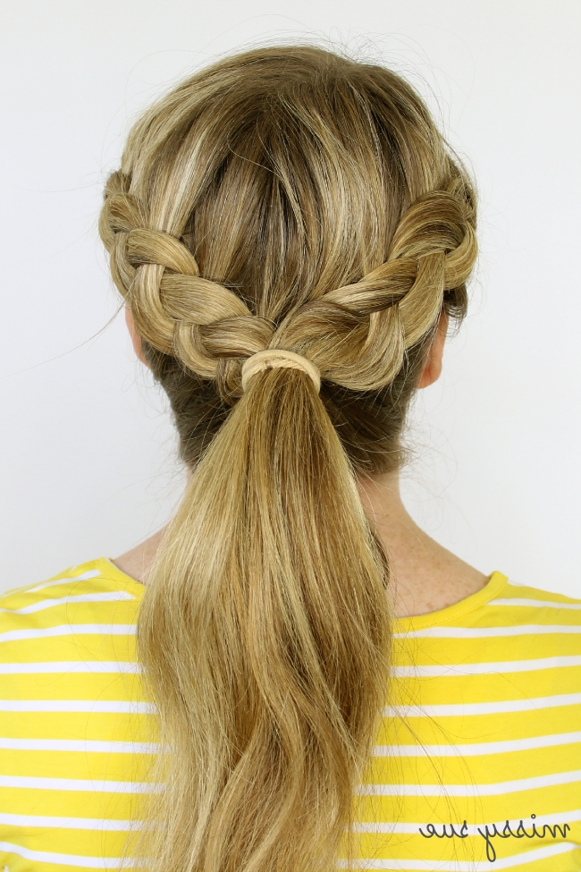 Two Dutch Braids 6 Hairstyles Inside Latest Two Braids Into One Braided Ponytail (View 5 of 15)