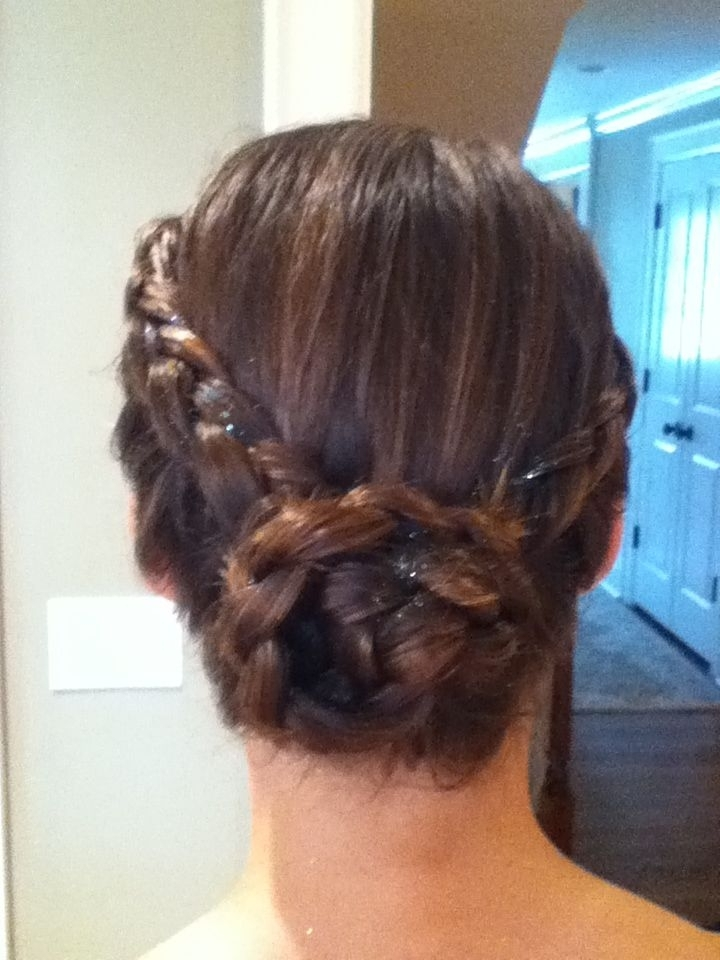 Two Inverted French Braids Pulled Back Into A Messy Bun | Hair Intended For Current Two French Braid Hairstyles With A Sock Bun (View 13 of 15)