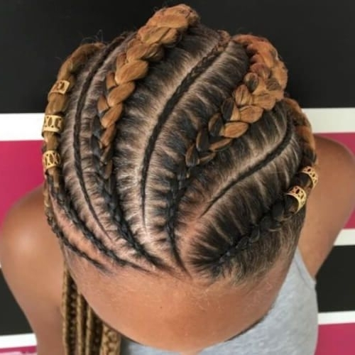 Two Tone Ghana Braids Cornrows | Beautiful Hair | Pinterest | Ghana For 2018 Two Tone Braided Pony Hairstyles (View 4 of 15)