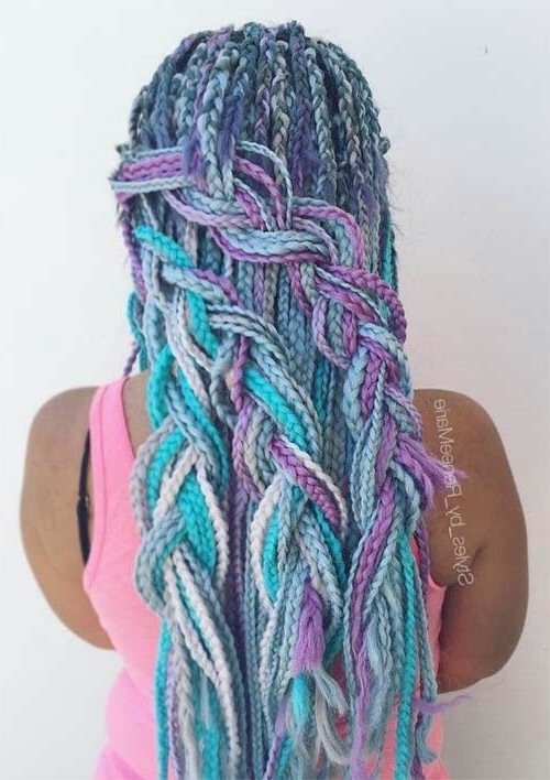 Unicorn Hair | Awesome Hair | Pinterest | Unicorn Hair, Dreads And Inside Current Extra Long Blue Rainbow Braids Hairstyles (View 14 of 15)