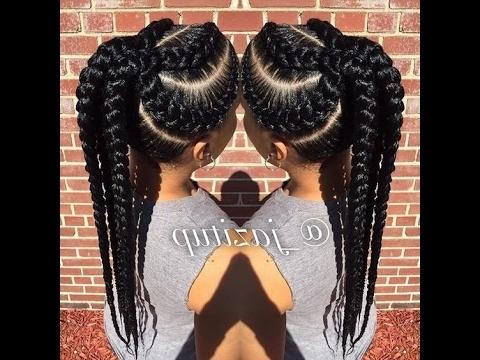 Unique Big Cornrow Hairstyles For Beautiful Ladies; Jumbo Braid Inside Most Recent Jumbo Cornrows Hairstyles (View 10 of 15)