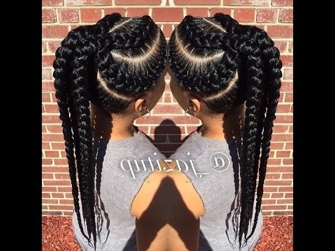 Unique Big Cornrow Hairstyles For Beautiful Ladies; Jumbo Braid Regarding Most Recent Big Cornrows Hairstyles (View 3 of 15)