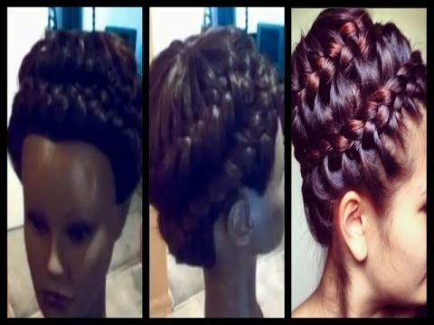 Universal Sew In Weave | Never Ending Braid Updo – Prom 2014 – Youtube Pertaining To Most Recently Braided Up Hairstyles With Weave (View 15 of 15)