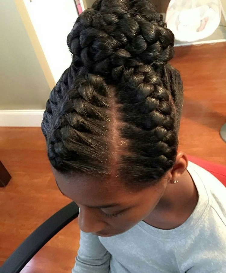 Updo For Black Women | Hairstyle For Women & Man Within Most Popular Big Updo Cornrows Hairstyles (View 14 of 15)