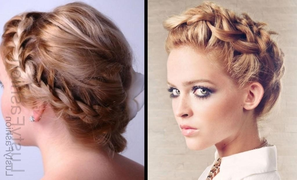 Updo For Short Hair! Get More Classier Than Before – Lustyfashion With Latest Braided Updo Hairstyle With Curls For Short Hair (View 9 of 15)