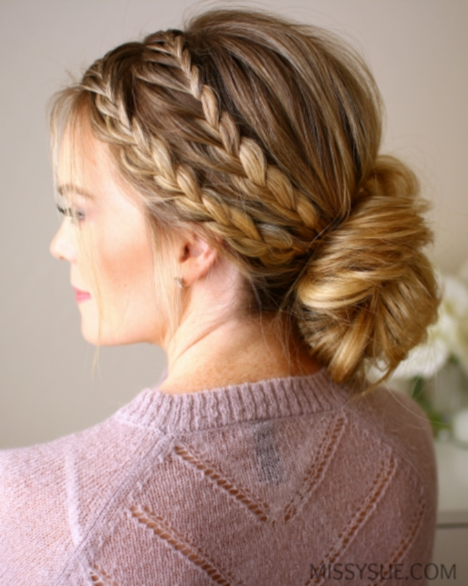 Updo Hairstyles Braids Double Braid Updo Hairstyle Tutorial Ideas With Regard To Best And Newest Double Braids Updo Hairstyles (View 5 of 15)
