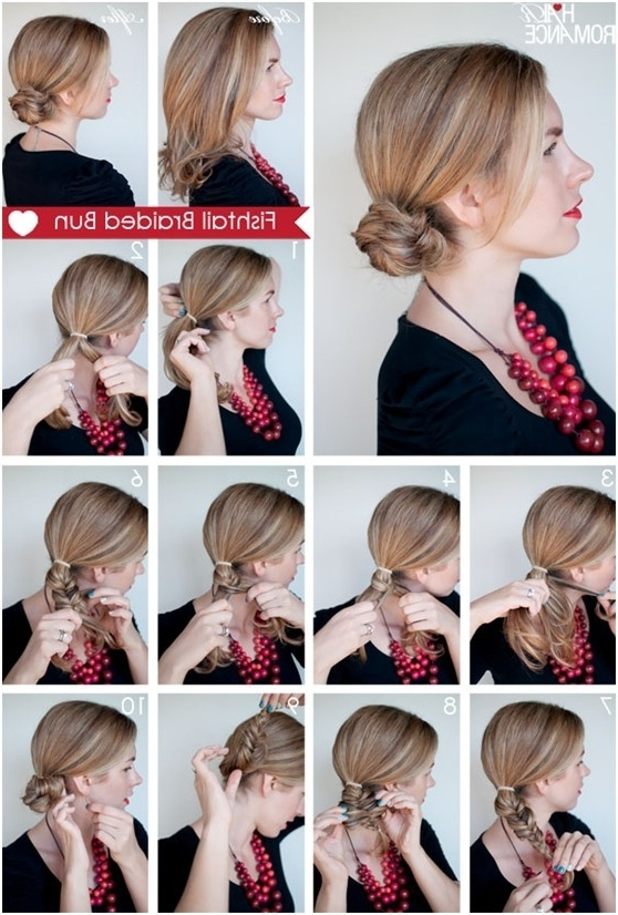 Updo Hairstyles For Everyday Fishtail Braided Hairstyles Tutorials Inside Most Up To Date Braided Everyday Hairstyles (View 8 of 15)