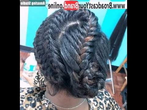 Updo With Curvy Black Braids – Youtube With Most Recent Long Curvy Braids Hairstyles (View 11 of 15)